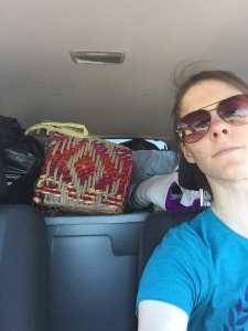 I felt nervous but comfortable with my choice to move everything in one car load or it was left behind.